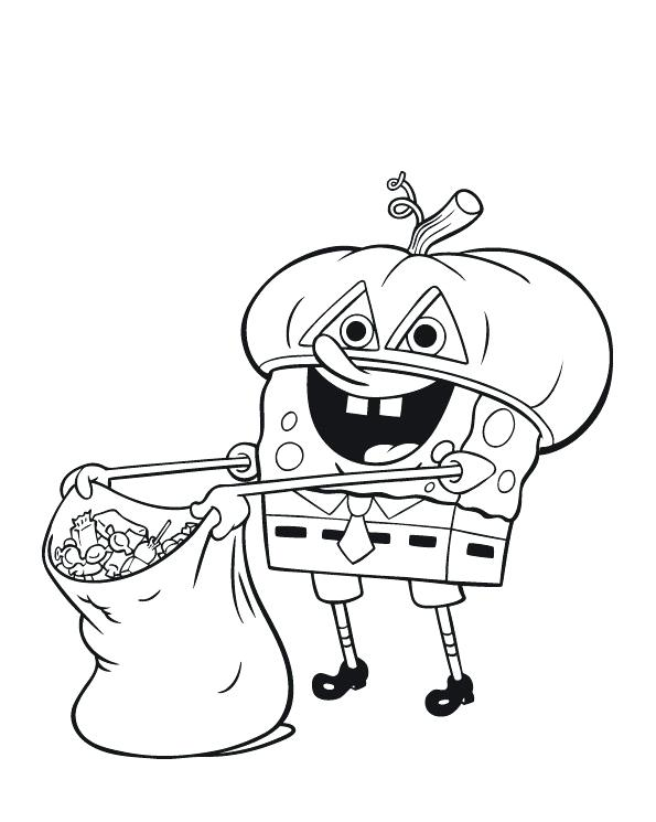 595x745 Cartoon Halloween Coloring Pages Monster Coloring Pages
