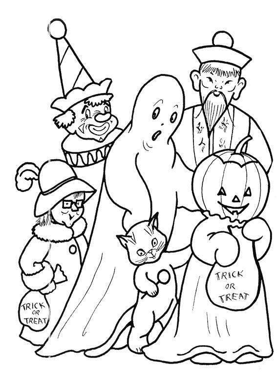 567x794 Halloween Costume Coloring Pages Costume Fun Halloween Coloring