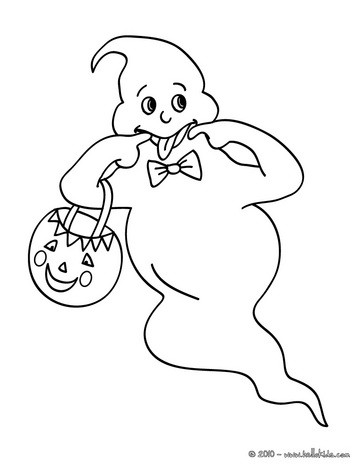 363x470 Ghosts And Pumpkin Coloring Pages