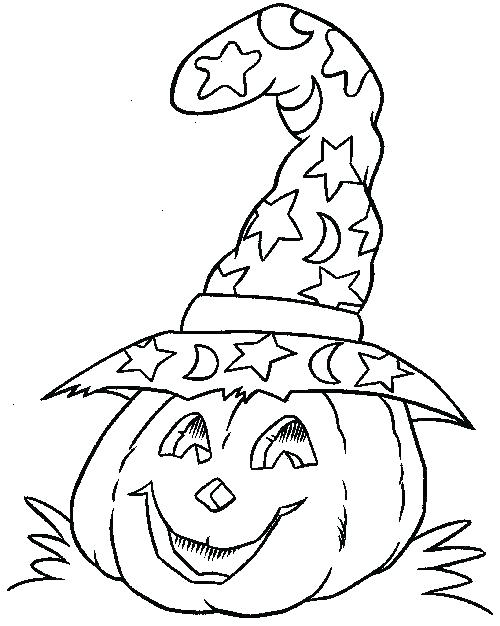 500x626 Halloween Coloring Pages For Preschoolers Coloring Pages