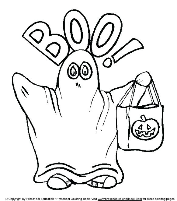 582x660 Halloween Ghost Coloring Pages View And Print Cute Ghost Kids