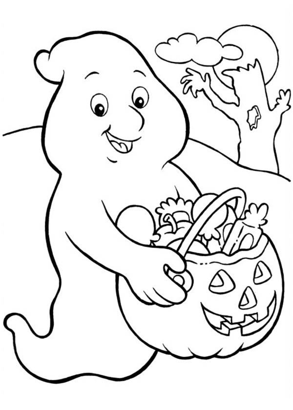 600x840 Ghost Halloween Coloring Pages Halloween Ghost Coloring Pages