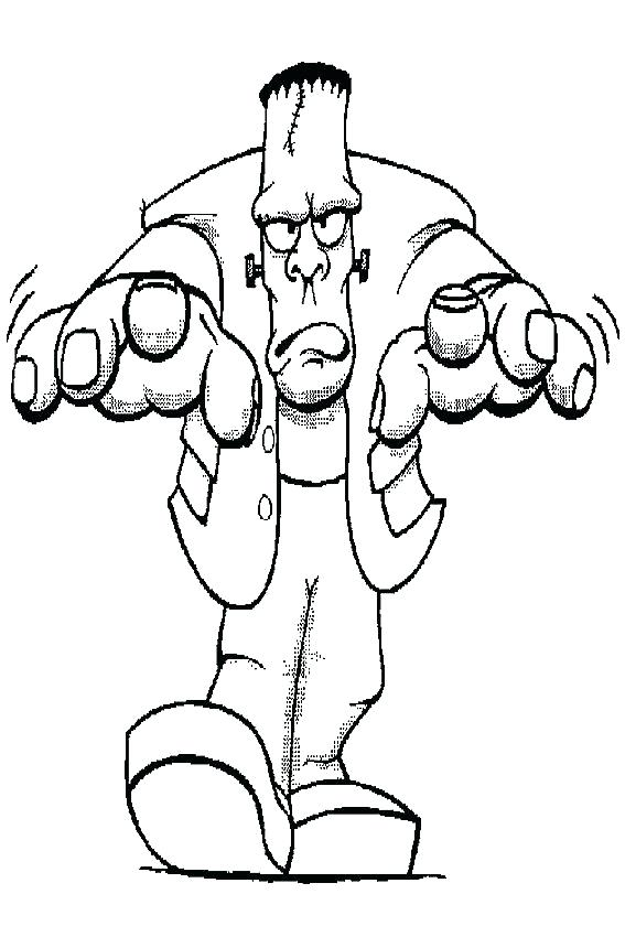 567x850 Ghost Halloween Coloring Pages