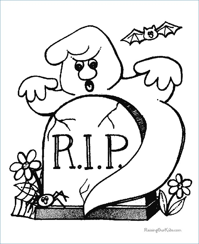 670x820 Halloween Rip Coloring Pages