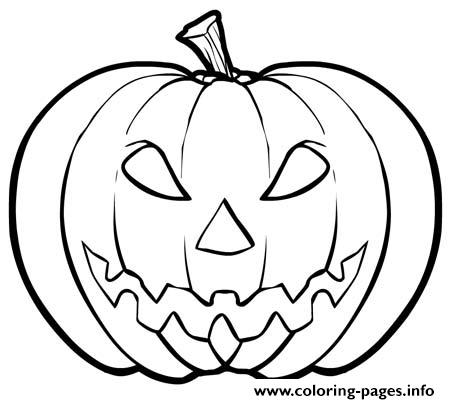 450x404 Kid Scary Halloween Pumpkin Coloring Pages Printable