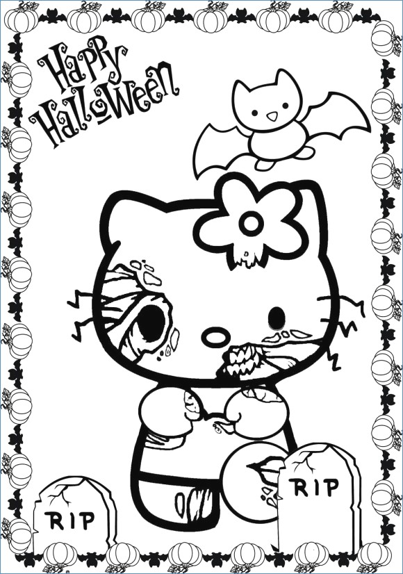 580x826 Really Scary Halloween Coloring Pages