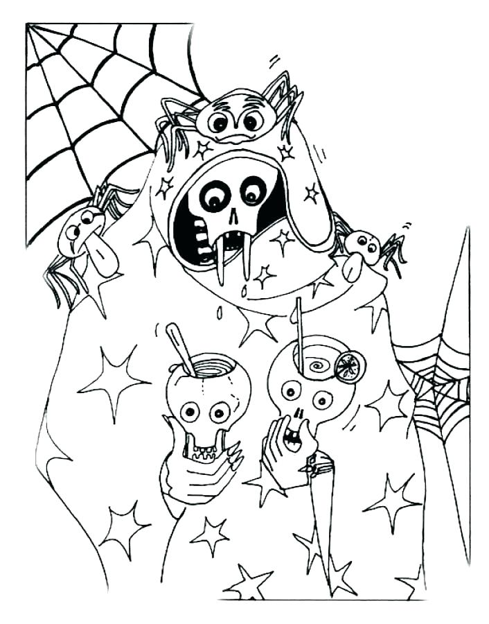 706x900 Spooky Halloween Coloring Pages Spooky Coloring Pages Printable