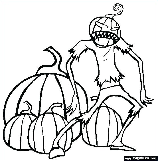 554x564 Coloring Scary Halloween Coloring Pages For Free Printable Sheets