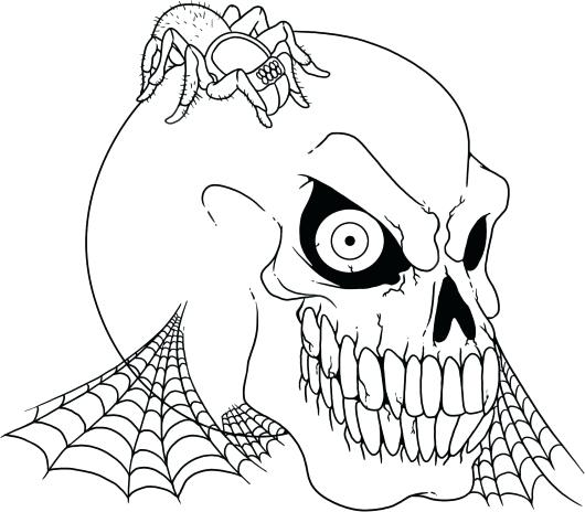 530x464 Creepy Halloween Coloring Pages Spooky Halloween Coloring Pages