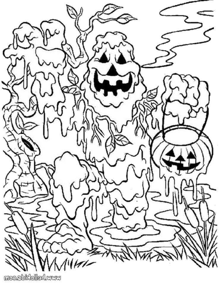 738x954 Scary Halloween Coloring Sheets Scary Halloween Coloring Pages