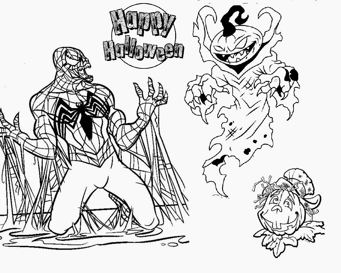 1092x874 Amazing Scary Halloween Coloring Pages For Your Free Coloring