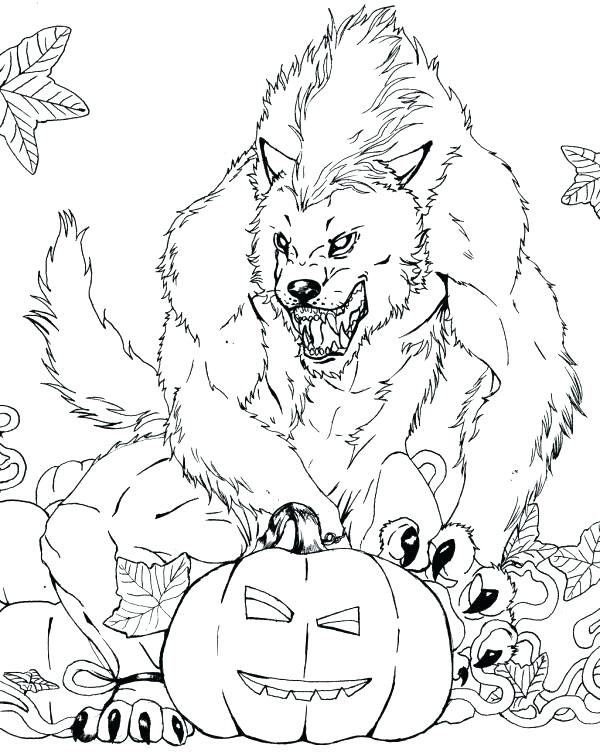 600x752 Coloring Pages Com Free Scary Coloring Pages Colouring