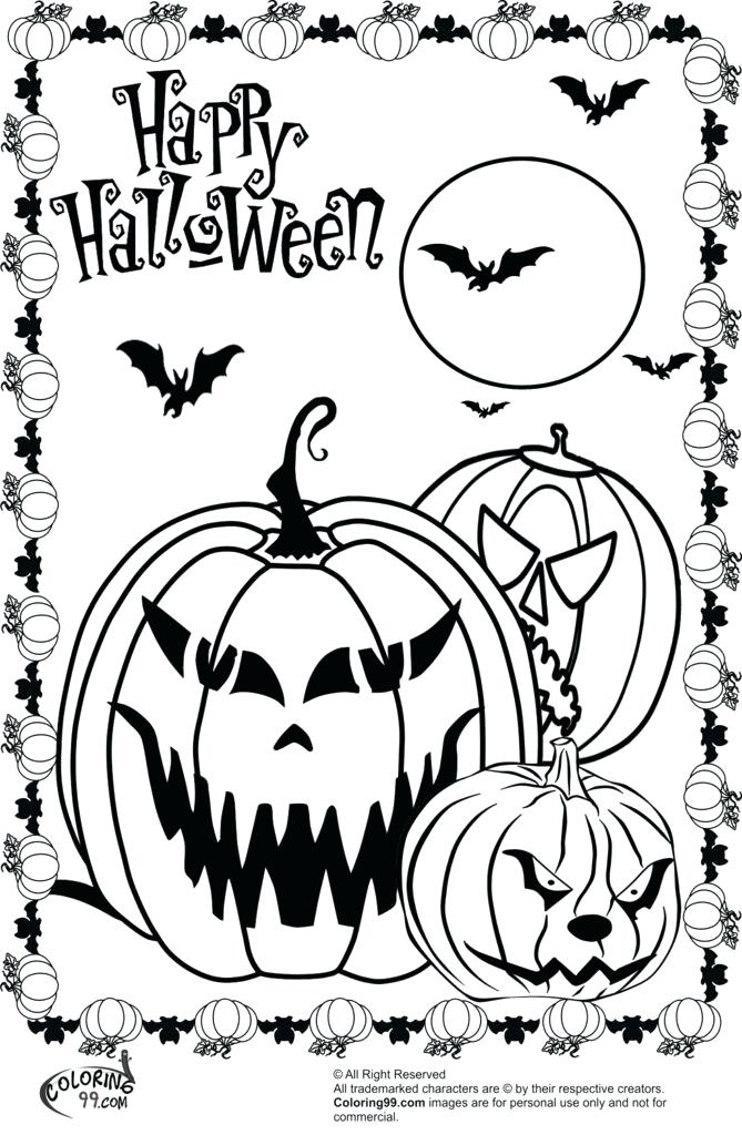 669x1024 Coloring Pages Of Halloween Scary Coloring Pages Halloween