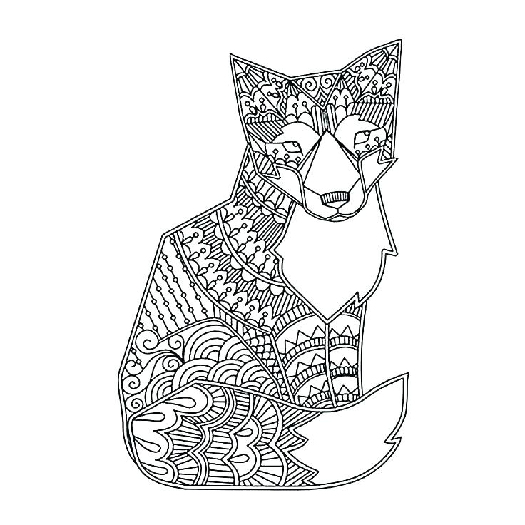 736x736 Difficult Mandala Coloring Pages Hard Animal Free Printable Adult