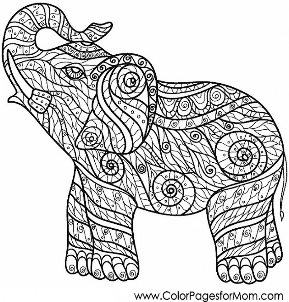 919x960 Free Difficult Animals Coloring Pages For Grown Ups Showy