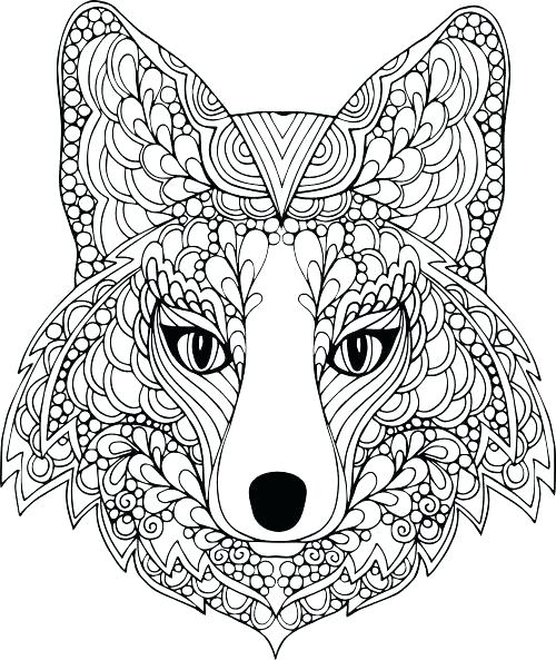 500x593 Animal Coloring Pages Amazing Animals Coloring Page Really Hard