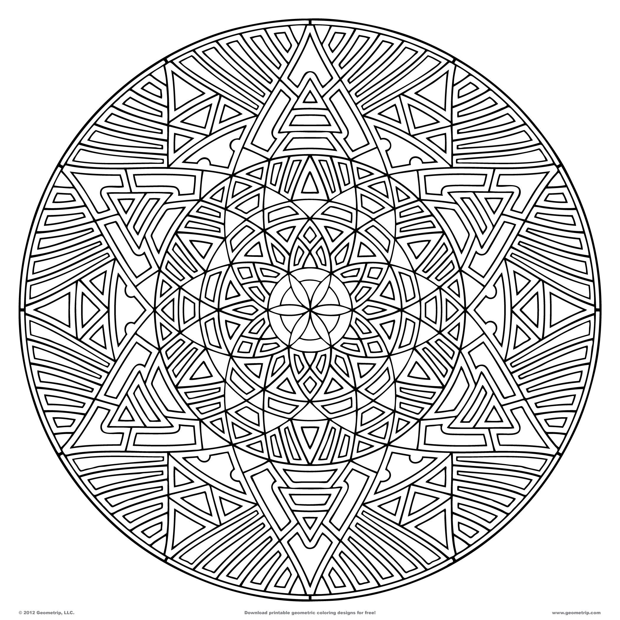 2100x2100 Coloring Pages Of Hard Designs Copy Geometric Coloring Pages