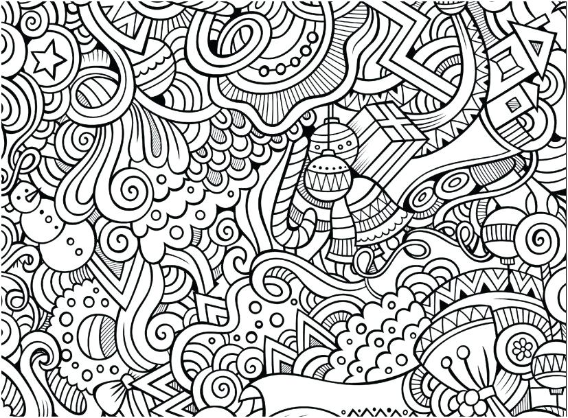 827x609 Free Printable Designs To Color Coloring Pages For Kids Hard