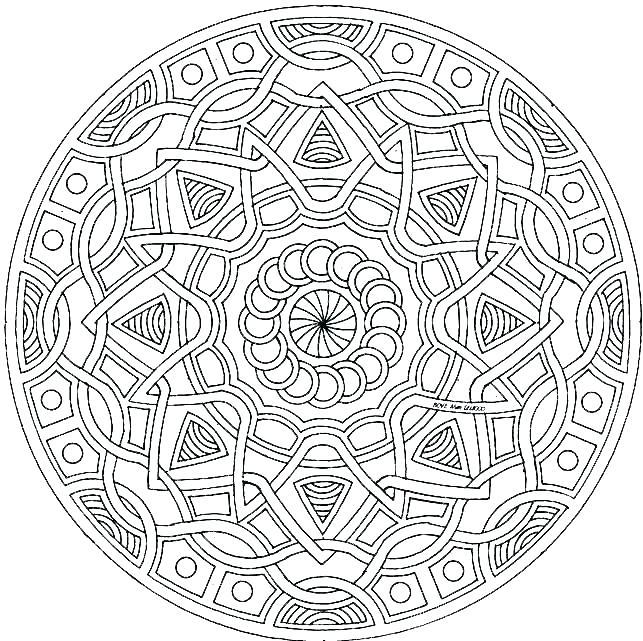 643x641 Online Mandala Coloring Pages Coloring Pages Mandala Designs Hard
