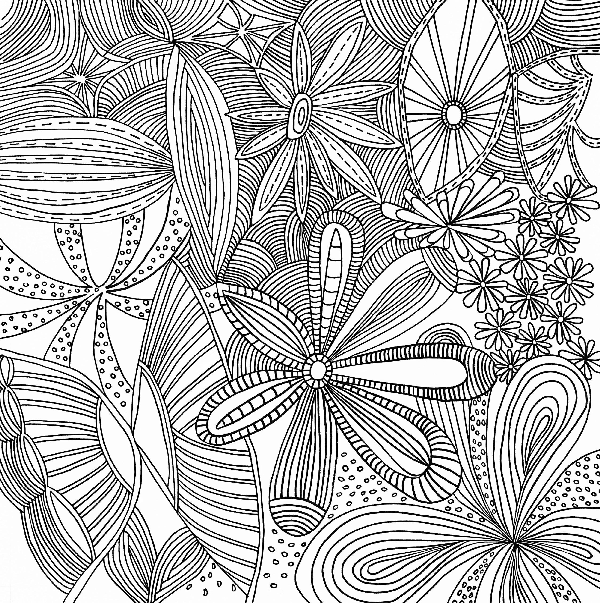 2551x2560 Unique Coloring Pages Patterns Geometric