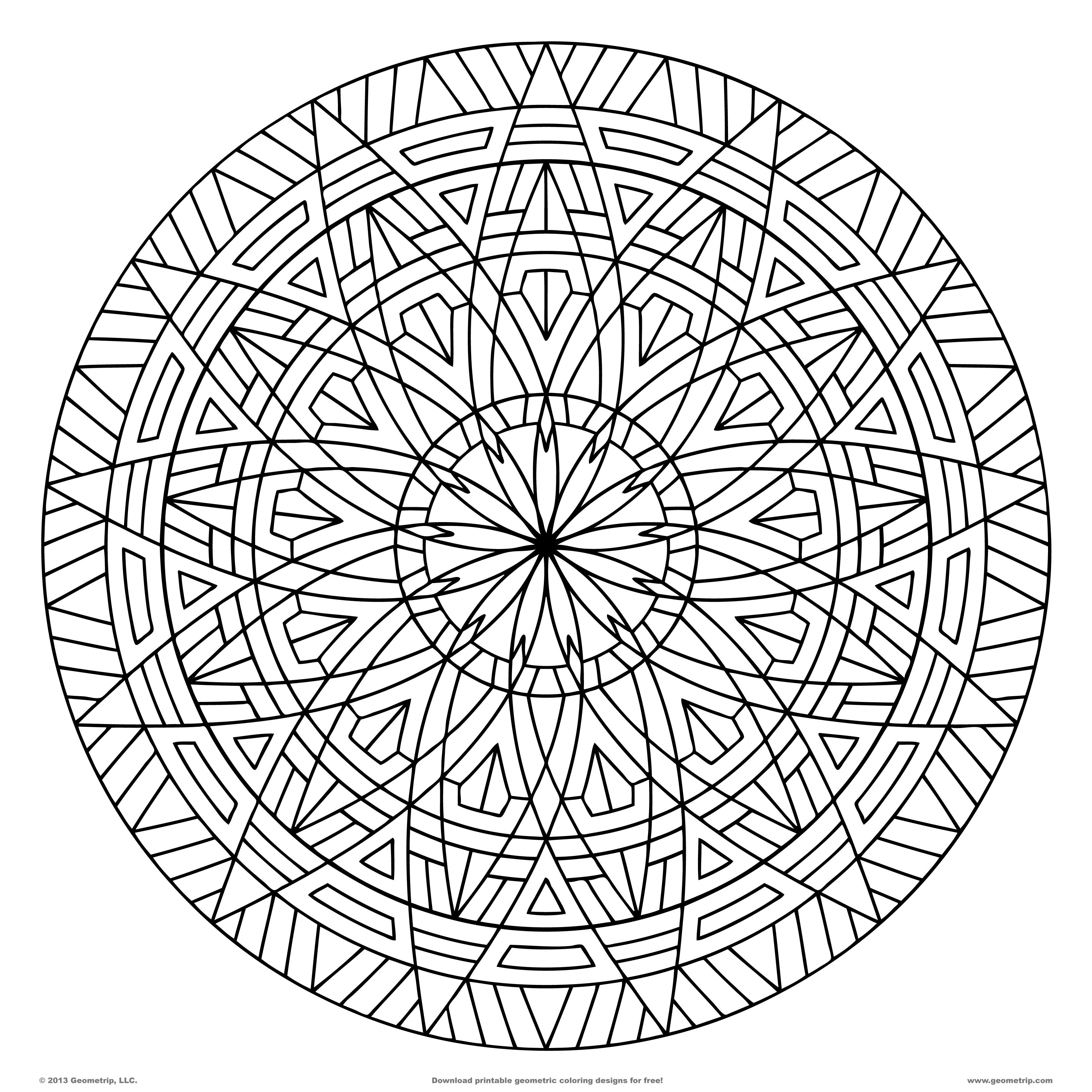 3600x3600 Images Of Printable Hard Geometric Coloring Pages