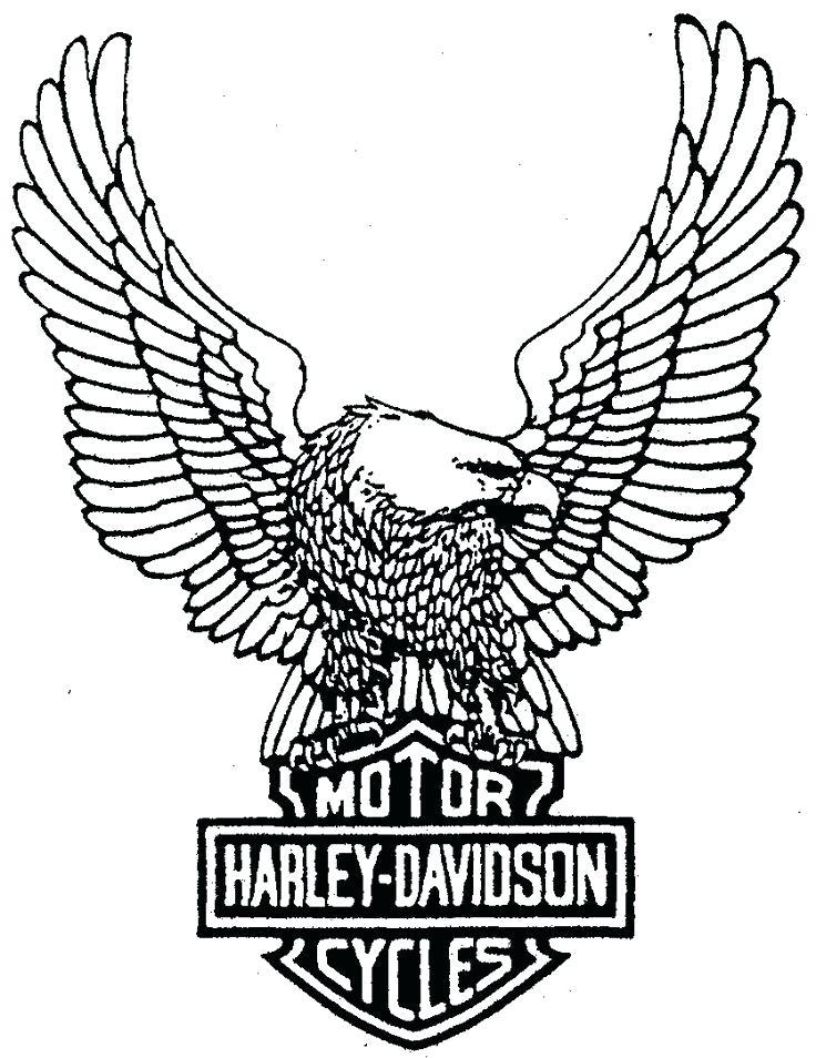 736x954 Harley Davidson Logo Outline Stencil Kids Coloring Logo Yahoo