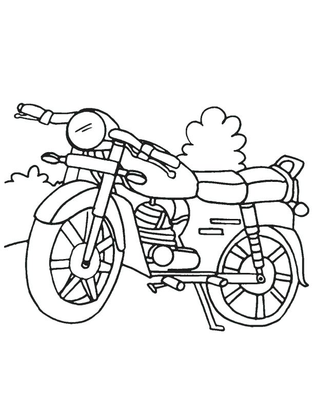 612x792 Motorcycle Coloring Page Download Free Motorcycle Coloring Page