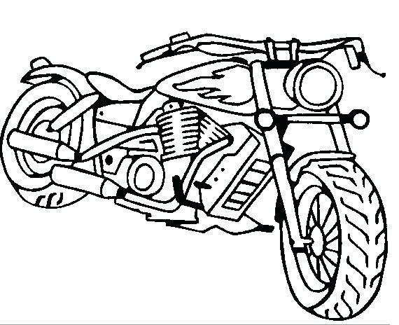 570x464 Motorcycle Coloring Pages Harley Davidson Motorcycle Coloring