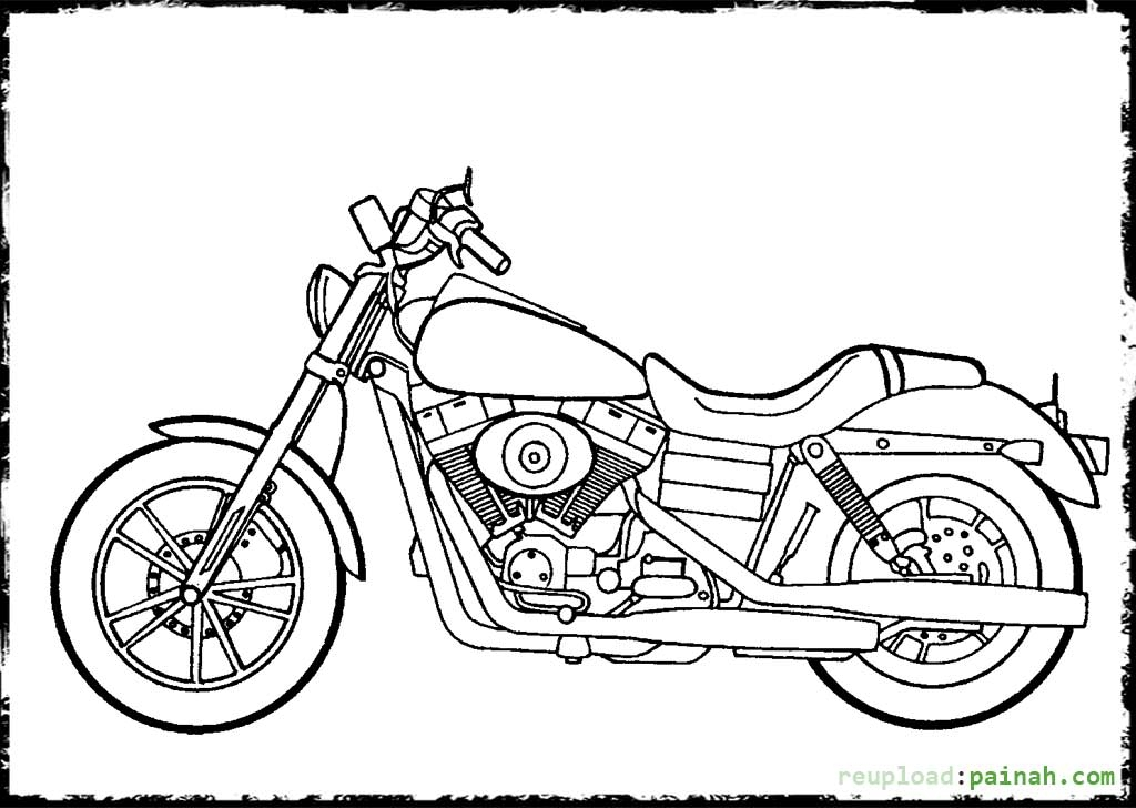1024x728 Printable Harley Davidson Coloring Pages
