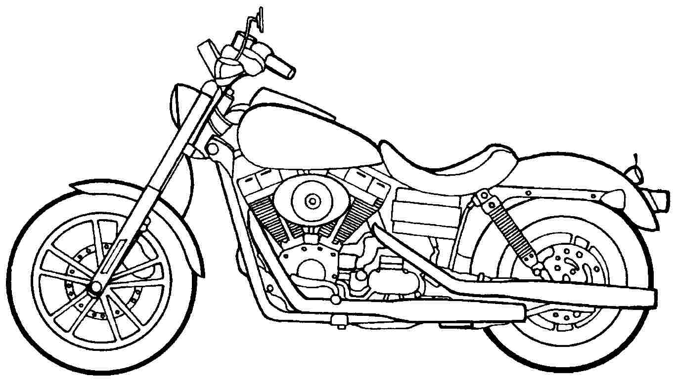 1367x774 Unusual Design Ideas Motorcycle Coloring Pages Harley Davidson