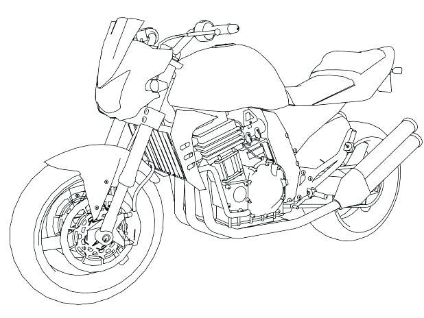 618x464 Harley Davidson Coloring Book