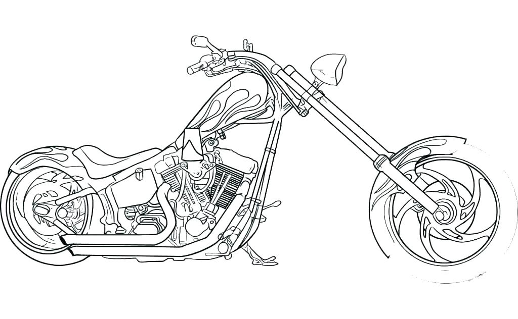 1024x632 Coloring Pages Of Harley Davidson Motorcycles Motorcycle Printable