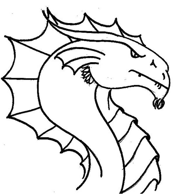 600x664 Dragon Head Coloring Pages