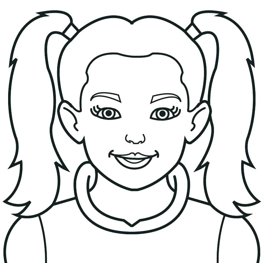 842x842 Head Coloring Page Head Coloring Page Girl Face Coloring Page Head