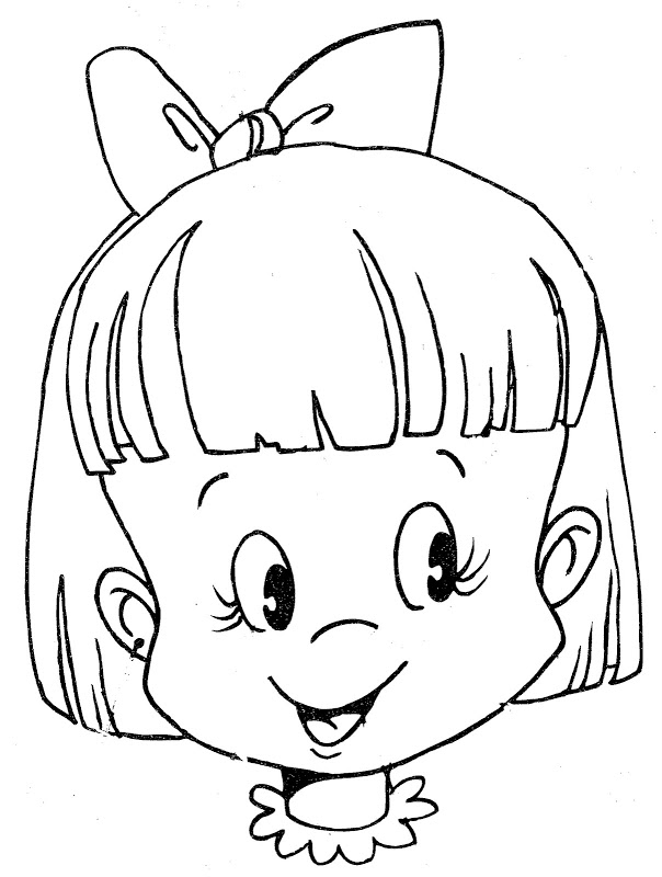 604x800 Head Coloring Pages Coloring Pages For Girls Face Weekly Snazzy