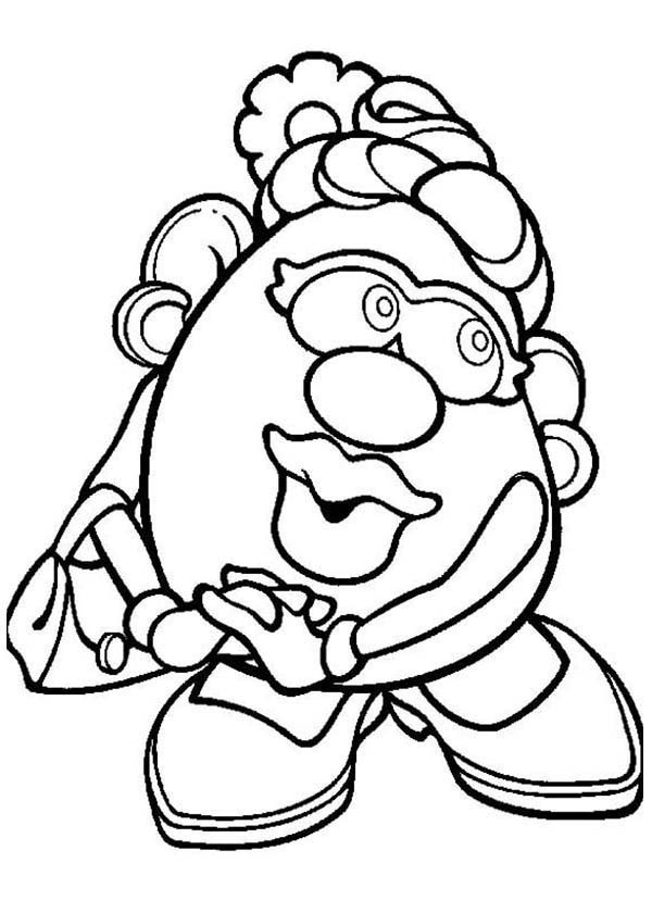 600x840 Mr Potato Head Coloring Pages