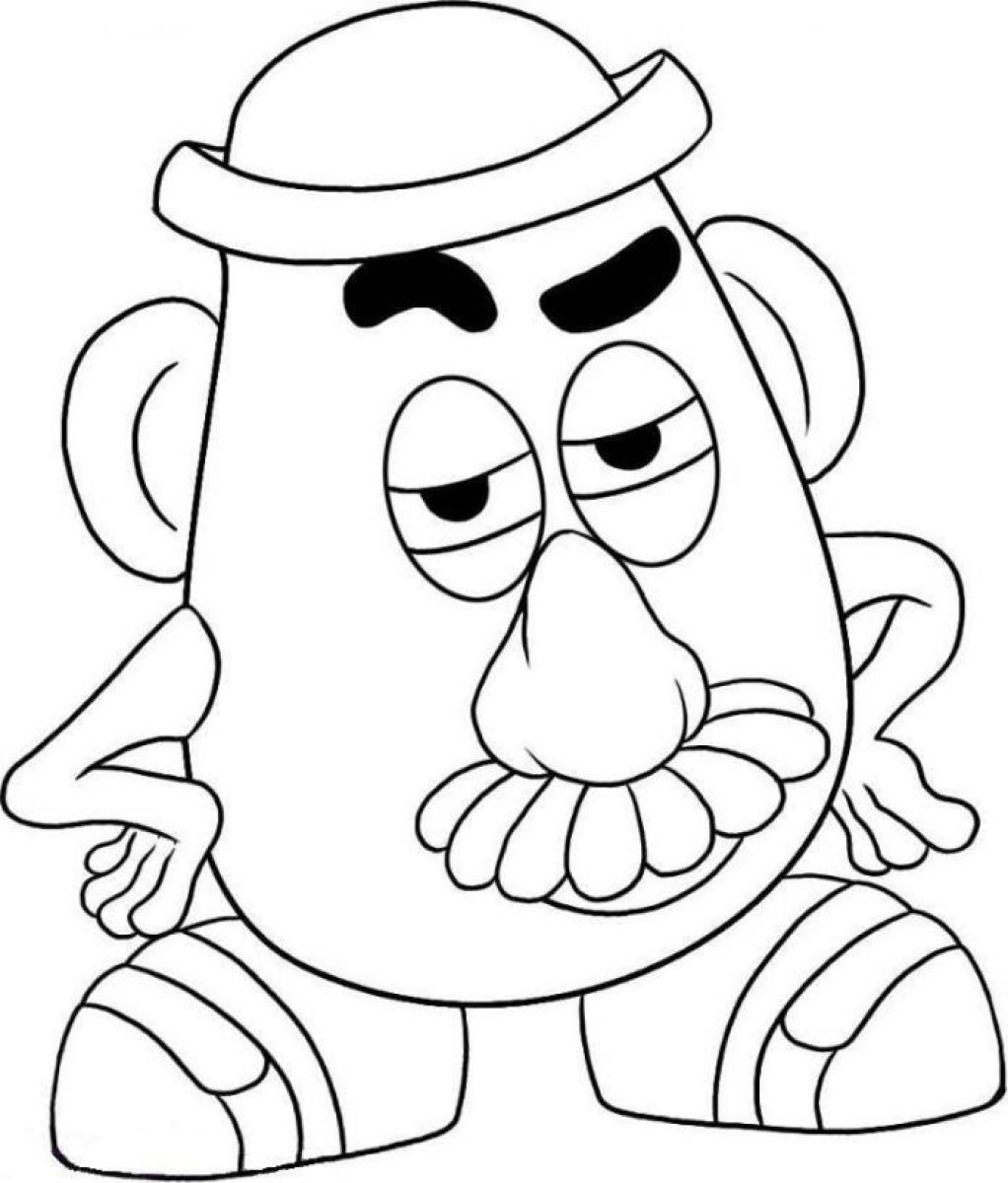 1022x1200 Toy Story Potato Head Coloring Pages