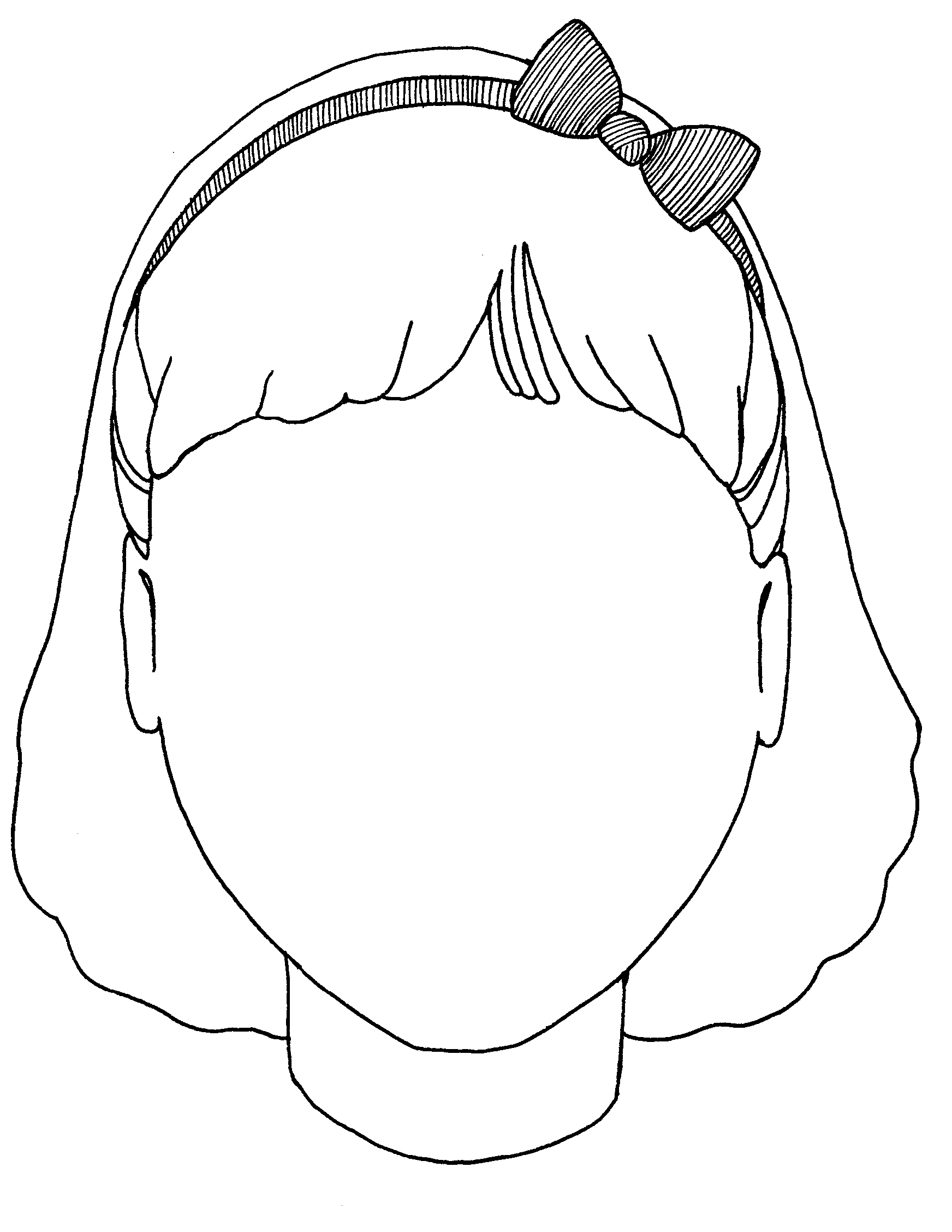 1744x2256 Blank Face Coloring Page