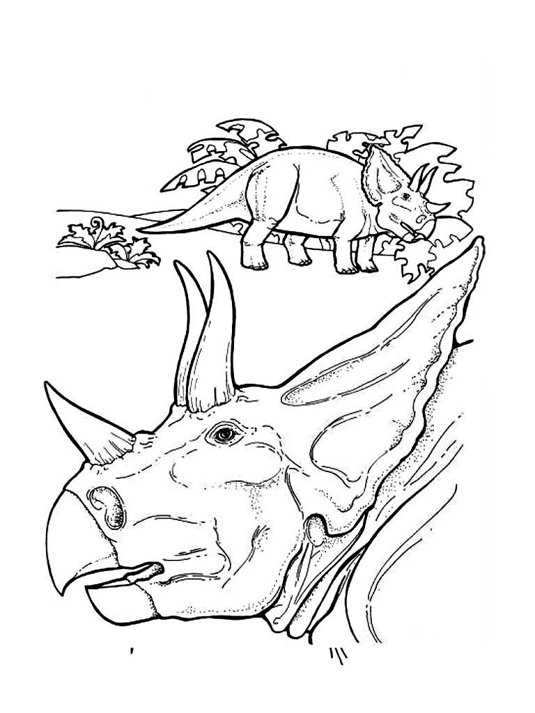 768x1024 Dinosaur Coloring Pages