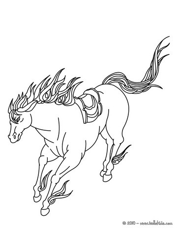 364x470 Horse Coloring Pages