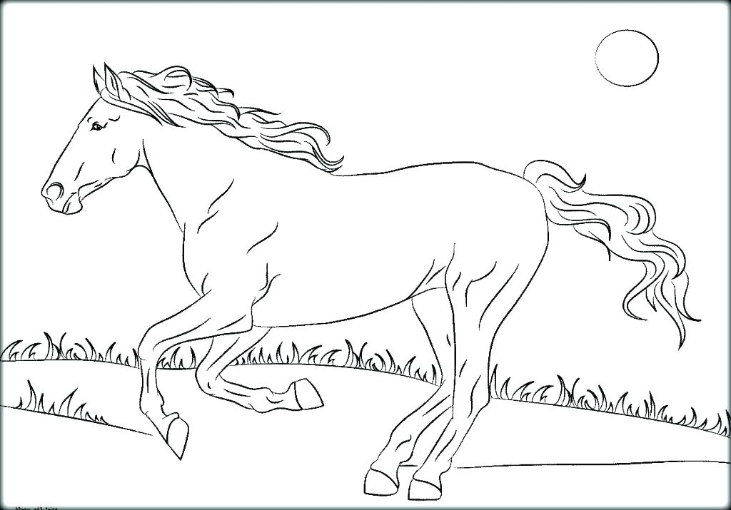 1024x715 Mustang Horse Coloring Pages Coloring Pages Of Horses Free