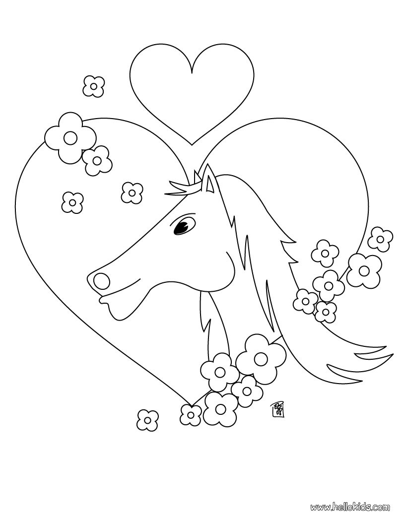 820x1060 Running Horses Coloring Pages
