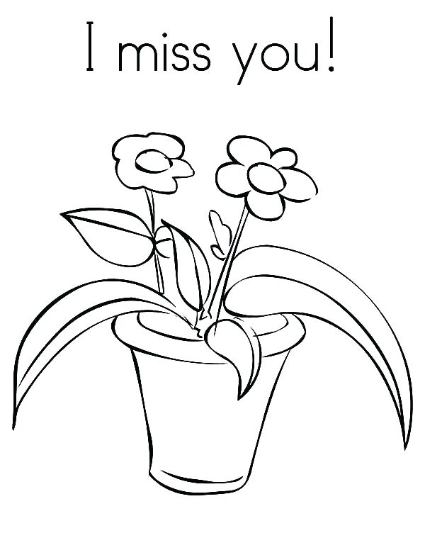 600x776 Flower Pot Coloring Pages Flower Pot Coloring Page Flower In Pot I