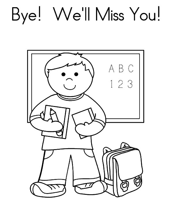 600x776 Goodbye I Miss You Coloring Pages Batch Coloring