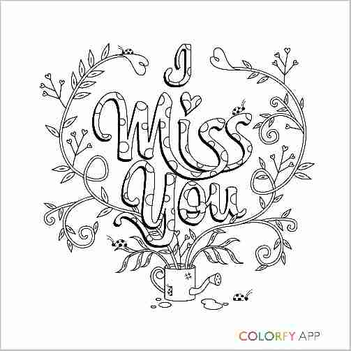 503x503 I Miss You Colorfy Adult Coloring Pages With Olegratiy
