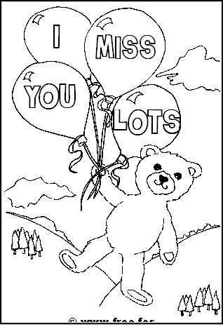 318x469 I Miss You Coloring Page Inside Pages