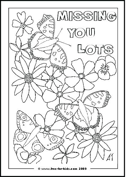 430x588 I Miss You Coloring Pages With Missing Message Thanksgiving