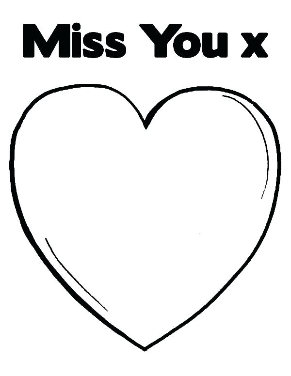 600x776 I Miss You Coloring Pages Coloring Collection