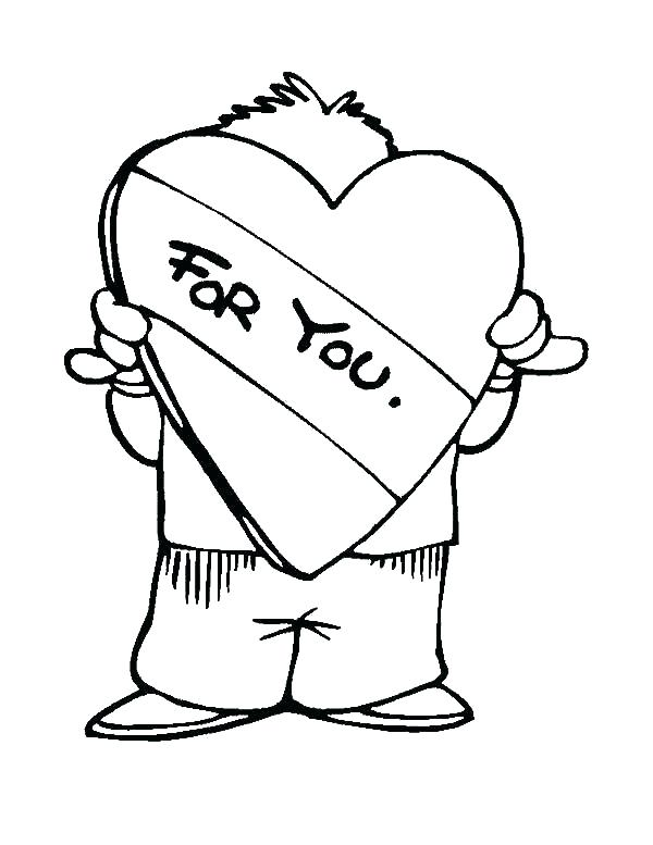 600x777 I Miss You Coloring Pages