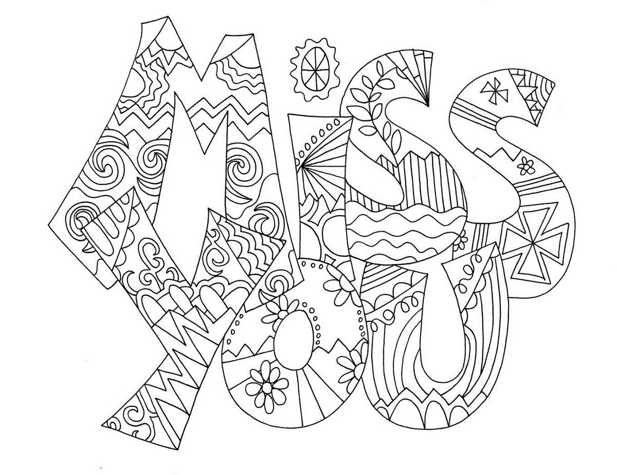 1200x925 Miss U Card Coloring Coloring Pages Coloring Books